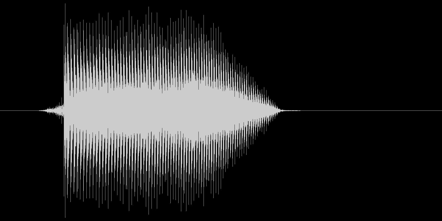ゲーム(ファミコン風)ジャンプ音_027の未再生の波形