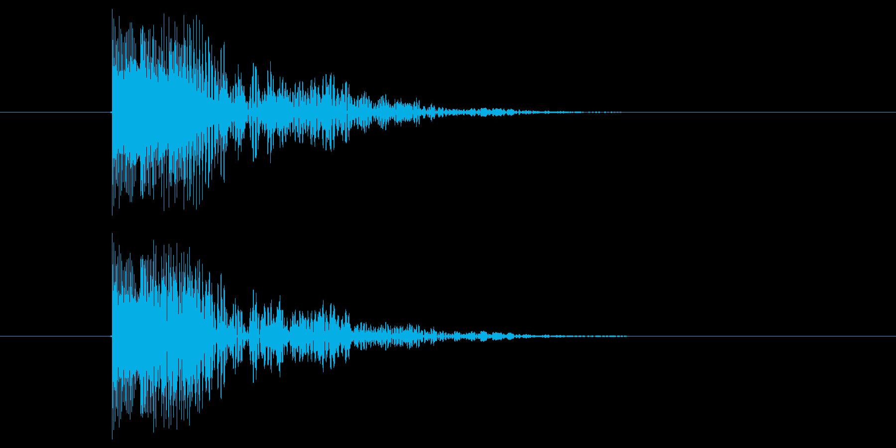 短いエラーボタン音の再生済みの波形