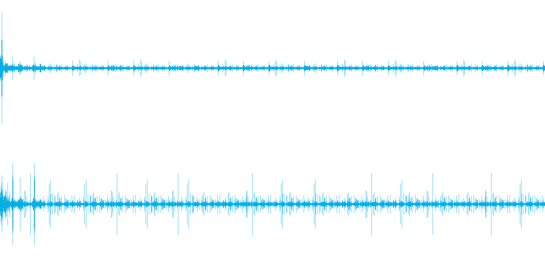 チリチリ、プチプチ:レコードノイズの音の再生済みの波形