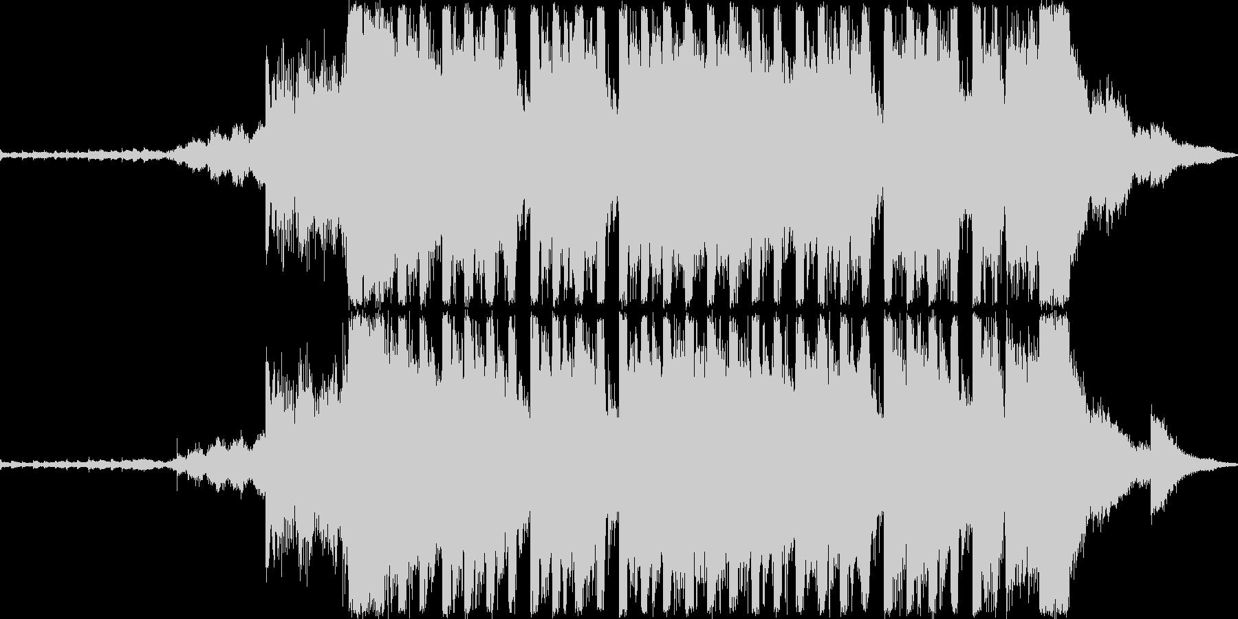 綺麗で切ない感じのEDMの未再生の波形