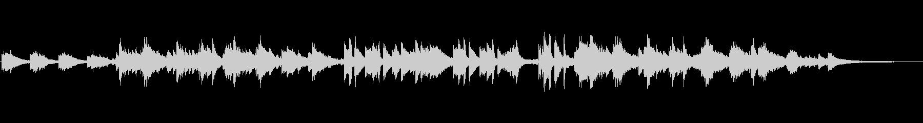 ピアノのさわやかな軽めのポップスの未再生の波形