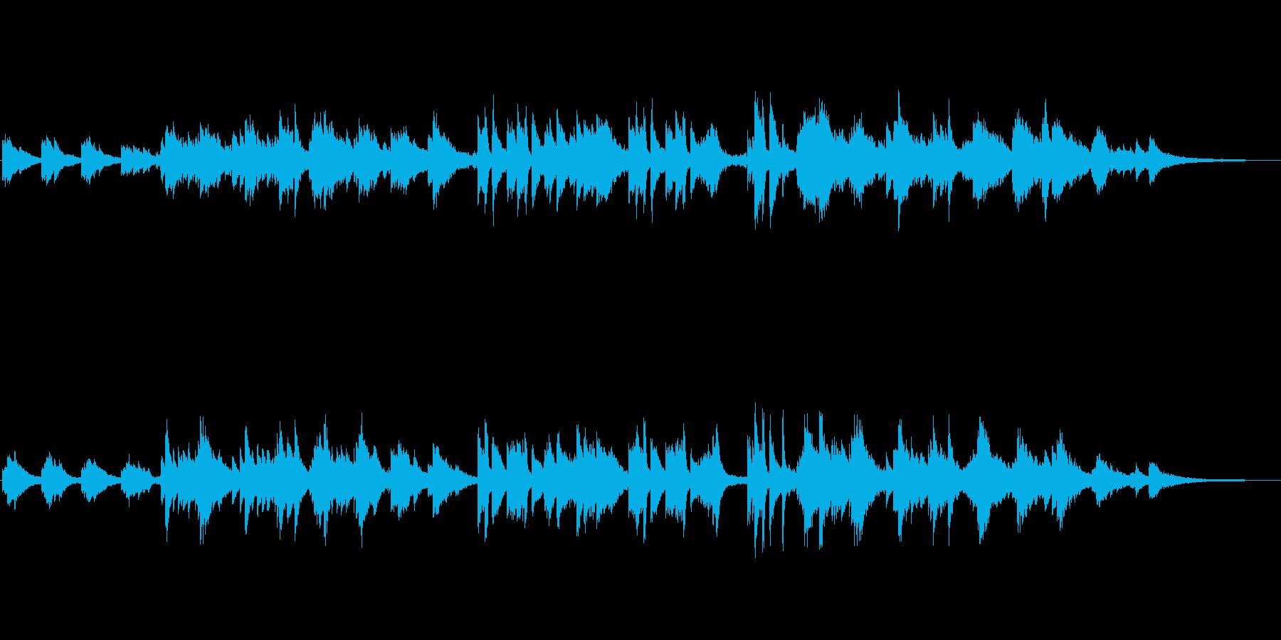 ピアノのさわやかな軽めのポップスの再生済みの波形
