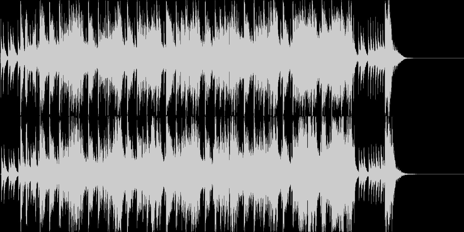 和風、ゲーム煽りBGM、子供用/掛声有りの未再生の波形