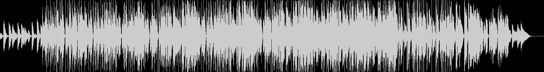 明るくおちゃらけたファンクロックの未再生の波形