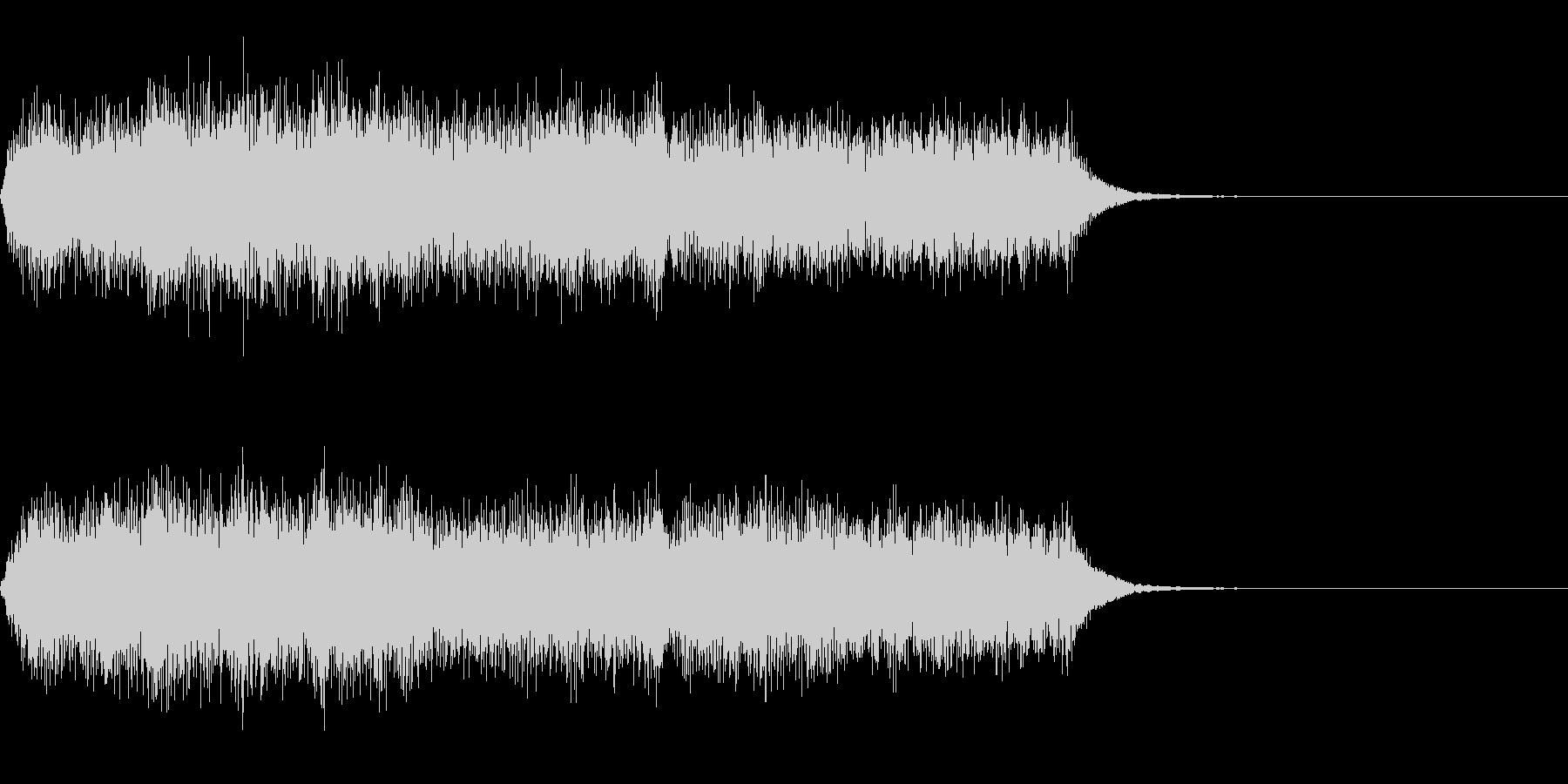 オーケストラの短いジングルの未再生の波形