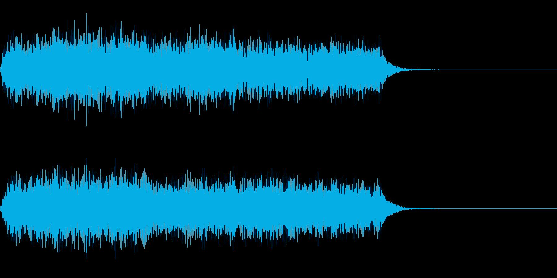 オーケストラの短いジングルの再生済みの波形
