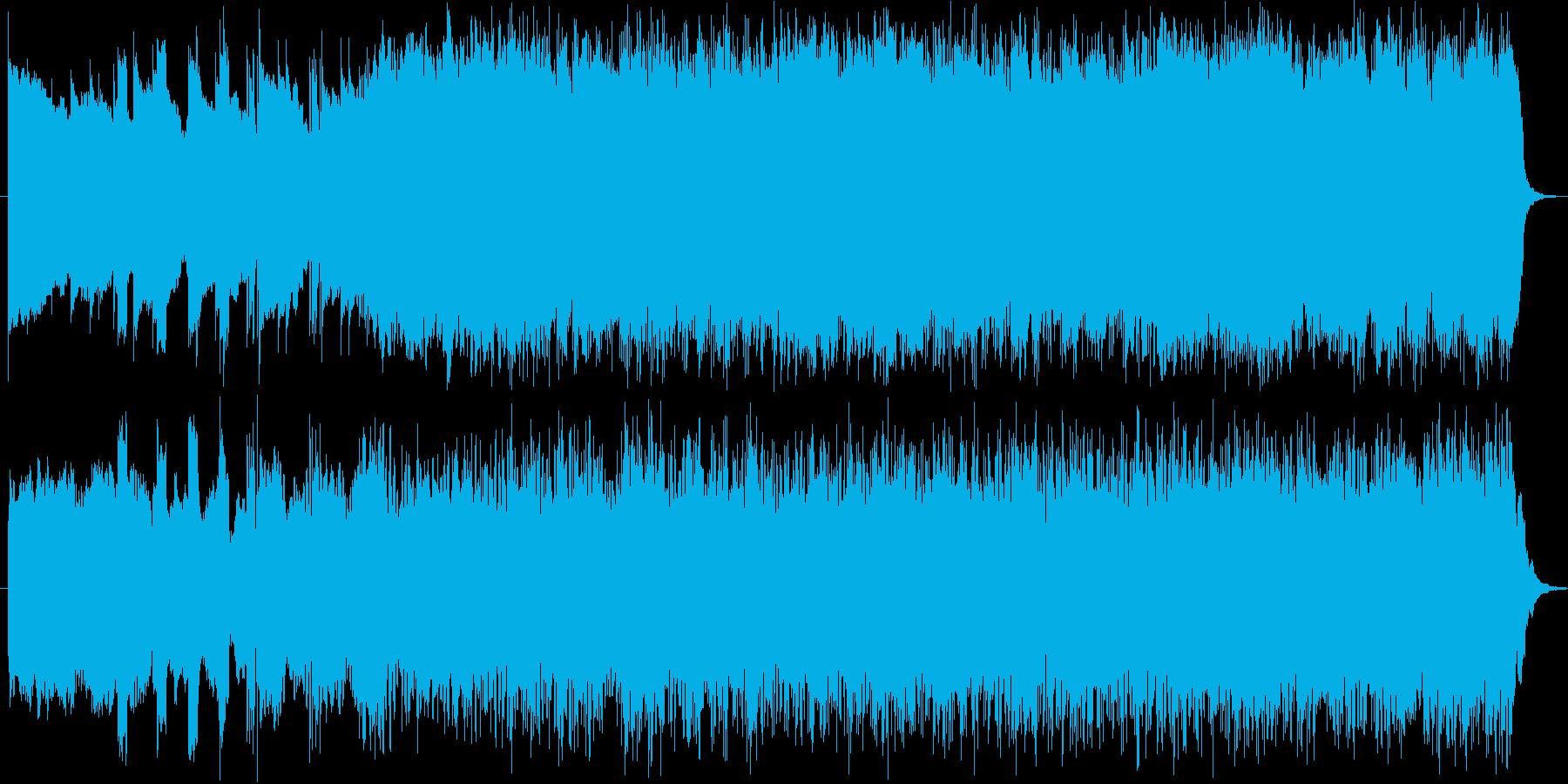 サスペンスやホラーの回想シーンBGMの再生済みの波形