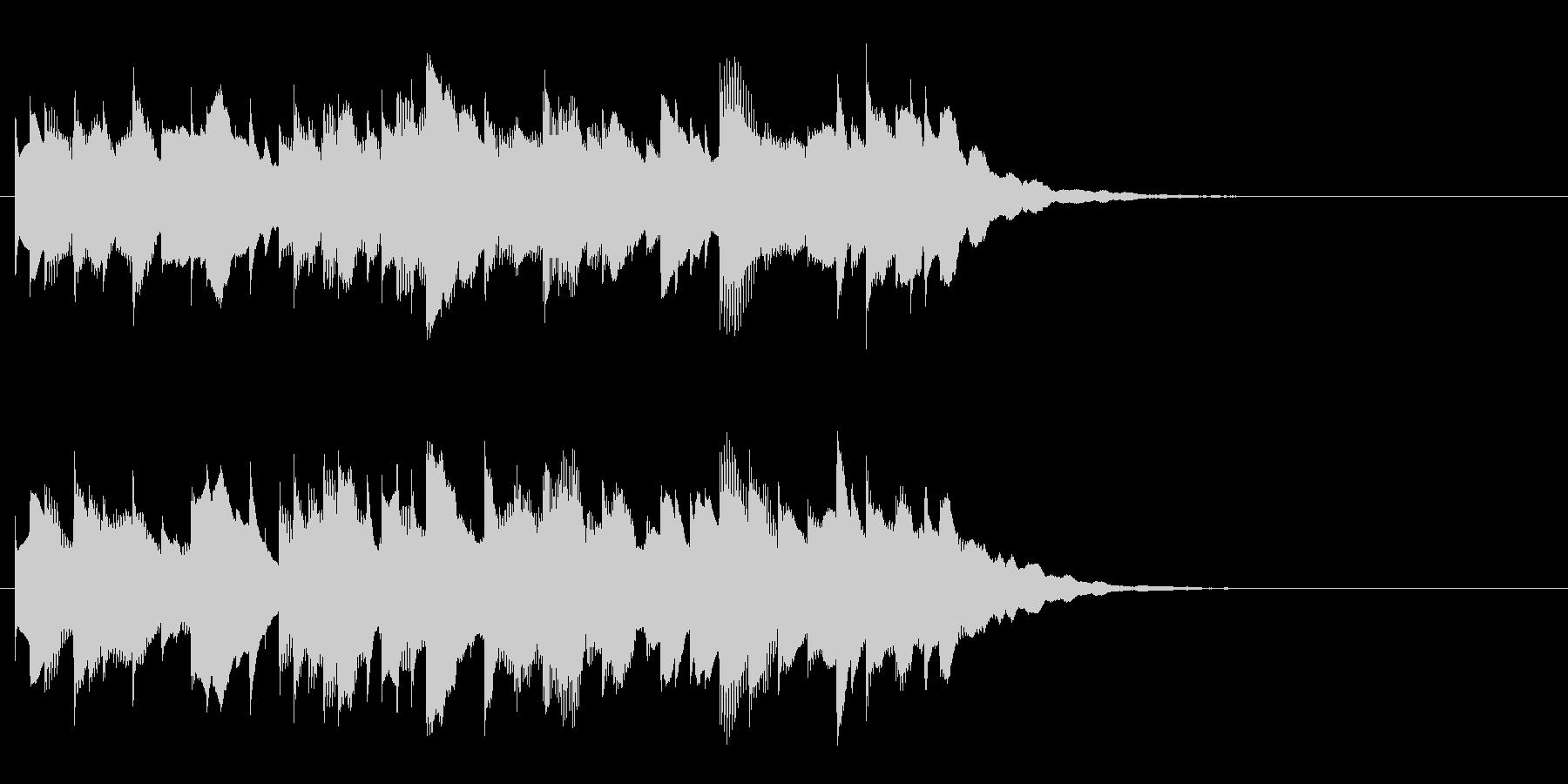 リズミカルなサウンドロゴ、ジングルの未再生の波形