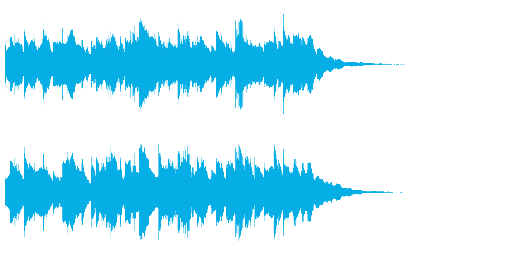 リズミカルなサウンドロゴ、ジングルの再生済みの波形