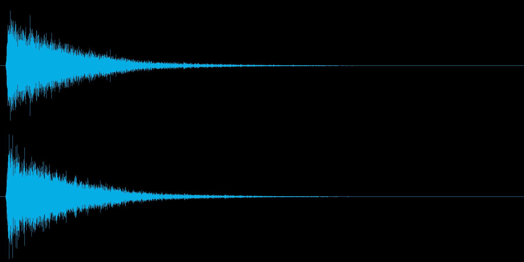 ピシュン/ワープ/移動の再生済みの波形