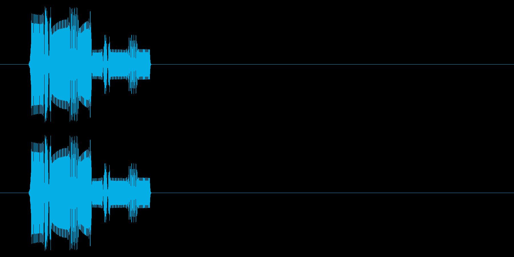 ファミコン風決定音の再生済みの波形