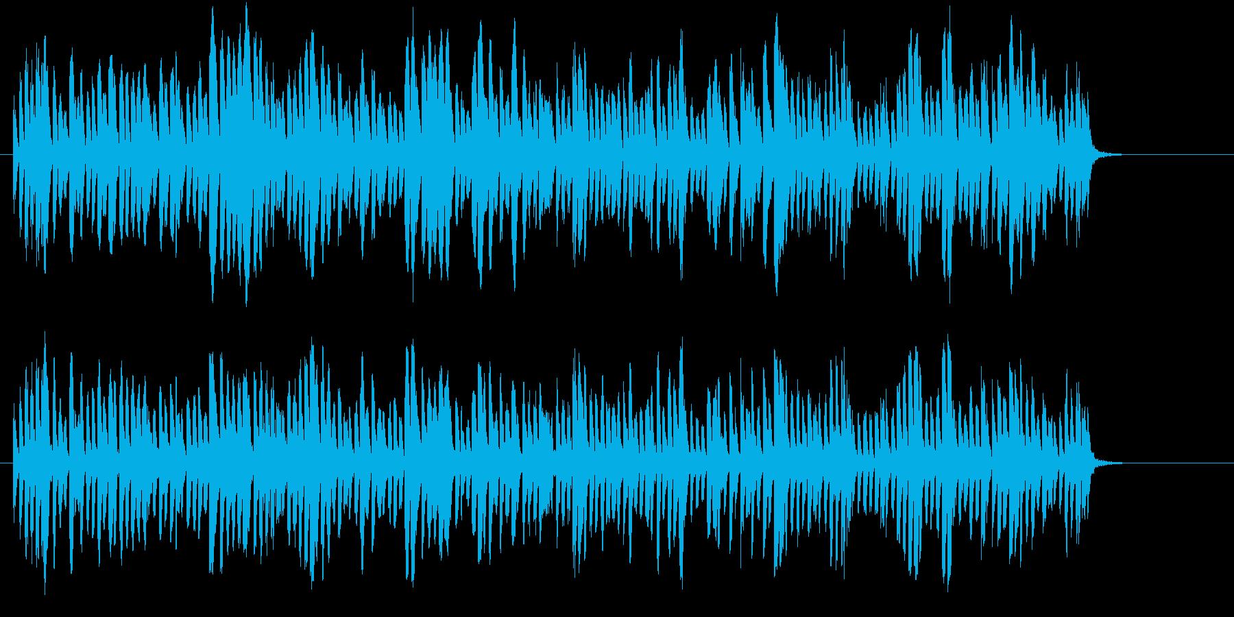 研究施設にて機械が作動している音の再生済みの波形