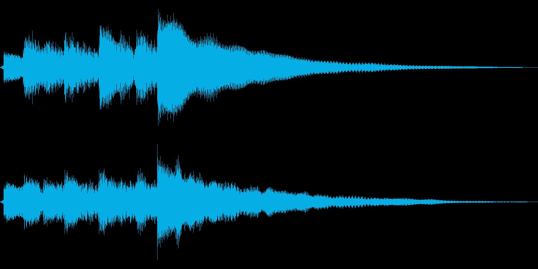ギター ジングル ロゴの再生済みの波形