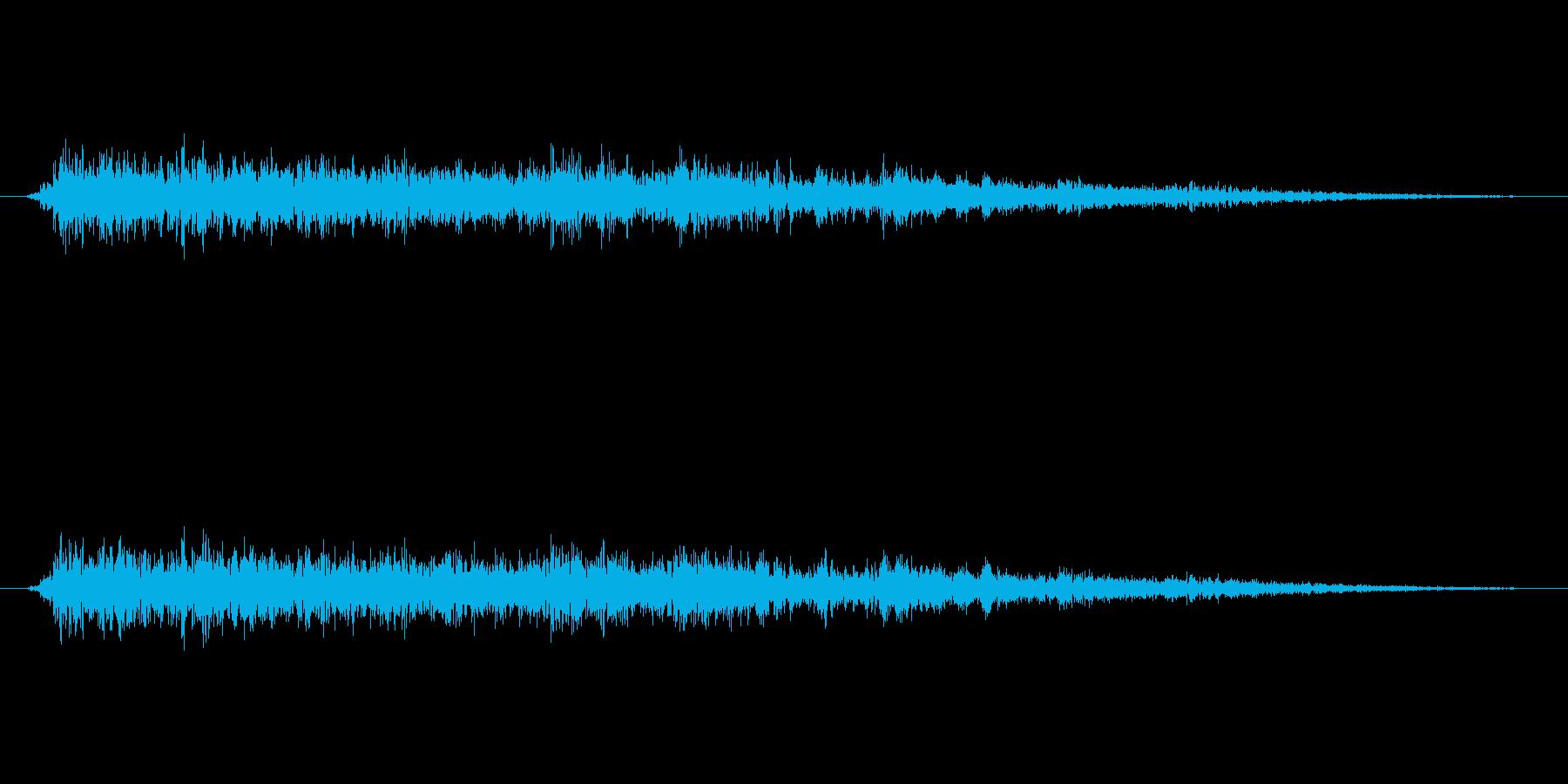 がしゃーん。大きなものが壊される破壊音…の再生済みの波形