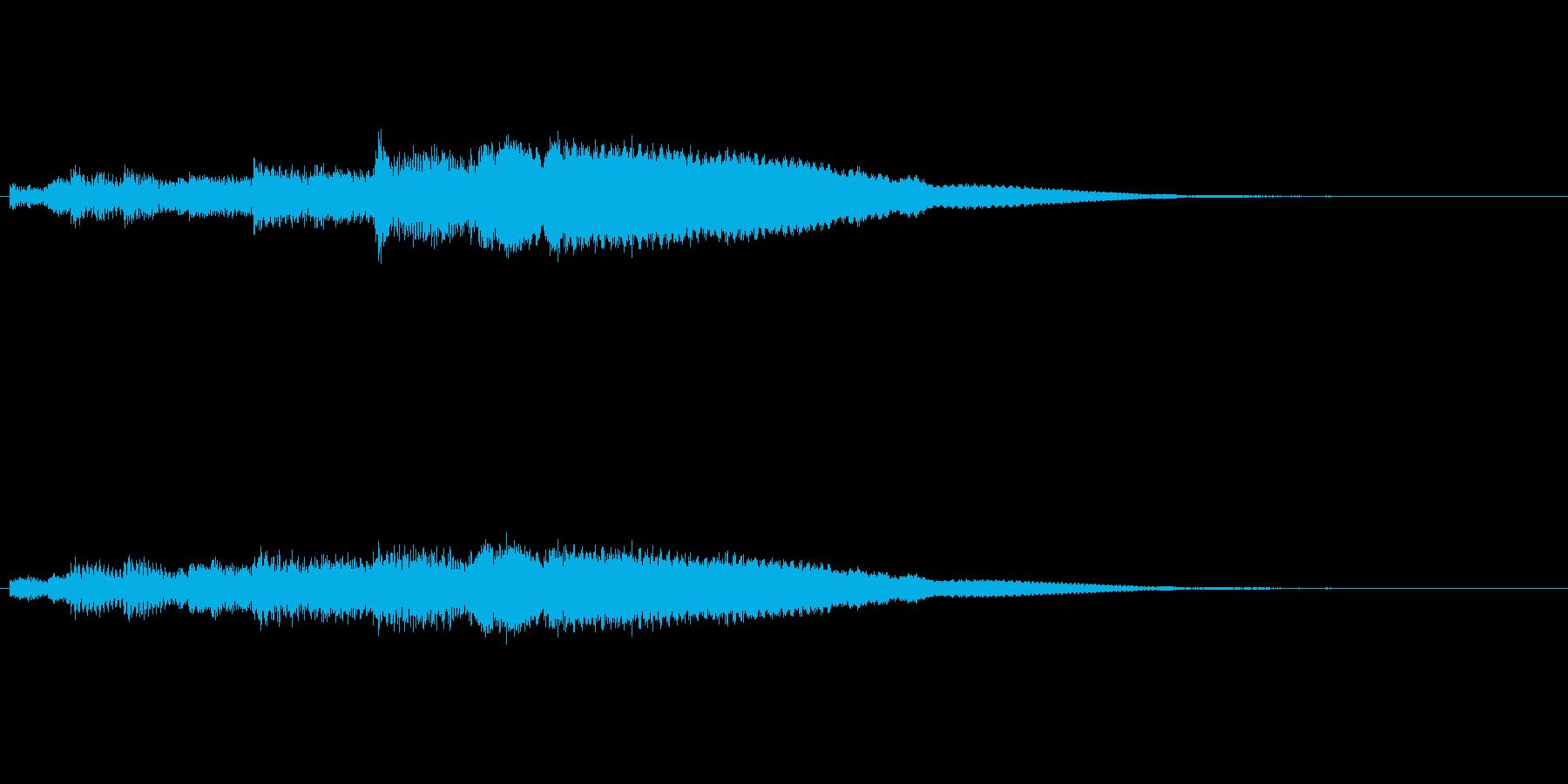 シンプルなベル音アイキャッチの再生済みの波形