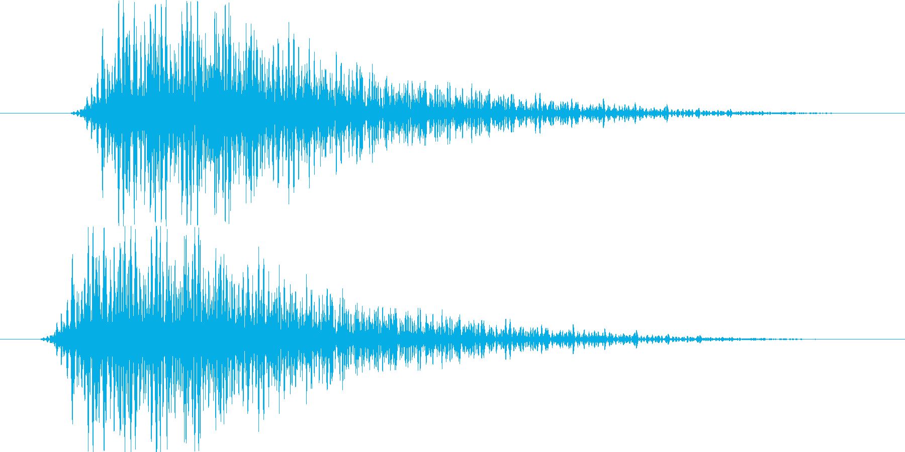 ヴァン(選択、決定時の効果音)の再生済みの波形