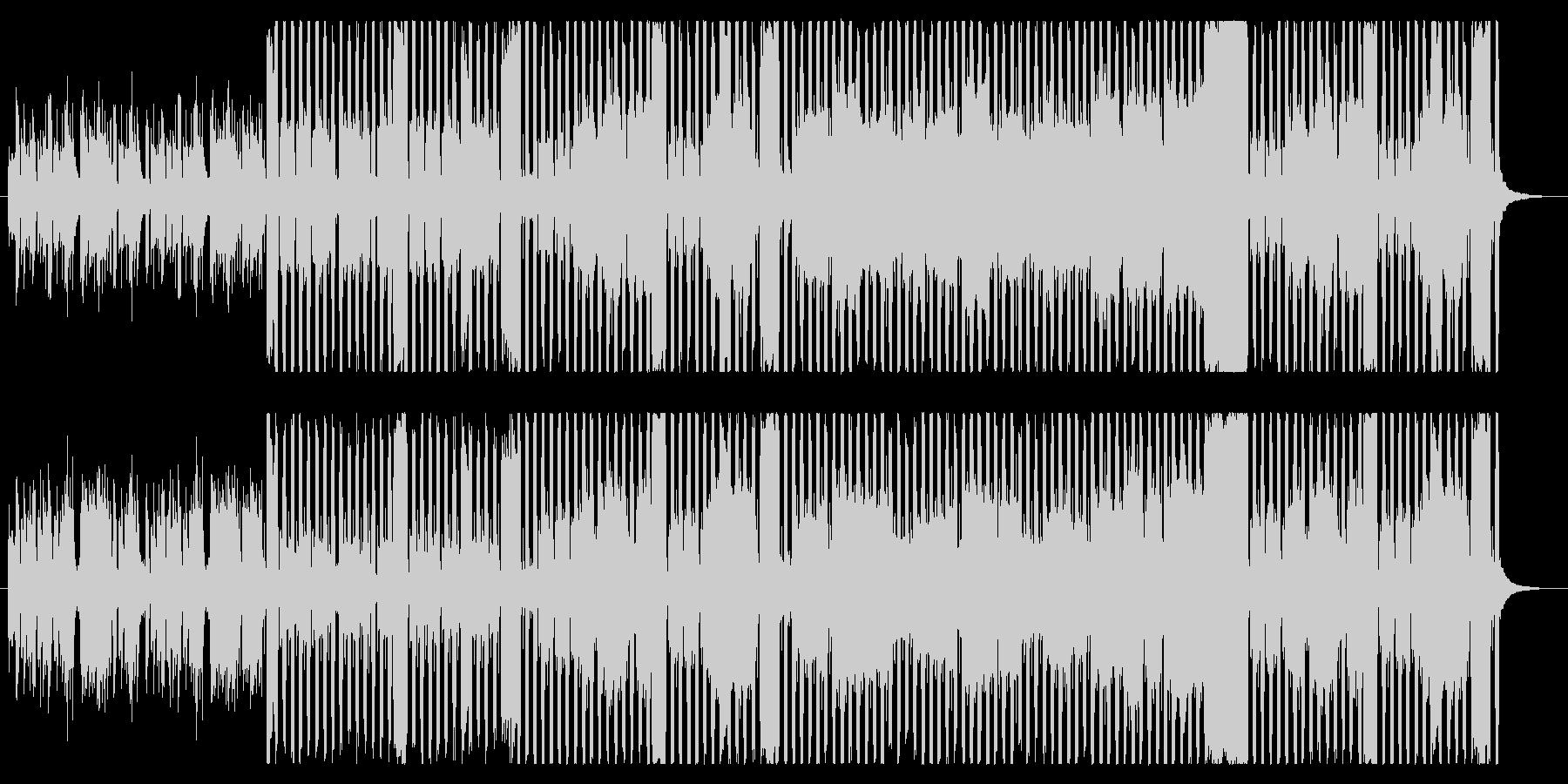 シンプルで明るいフルートBGMの未再生の波形
