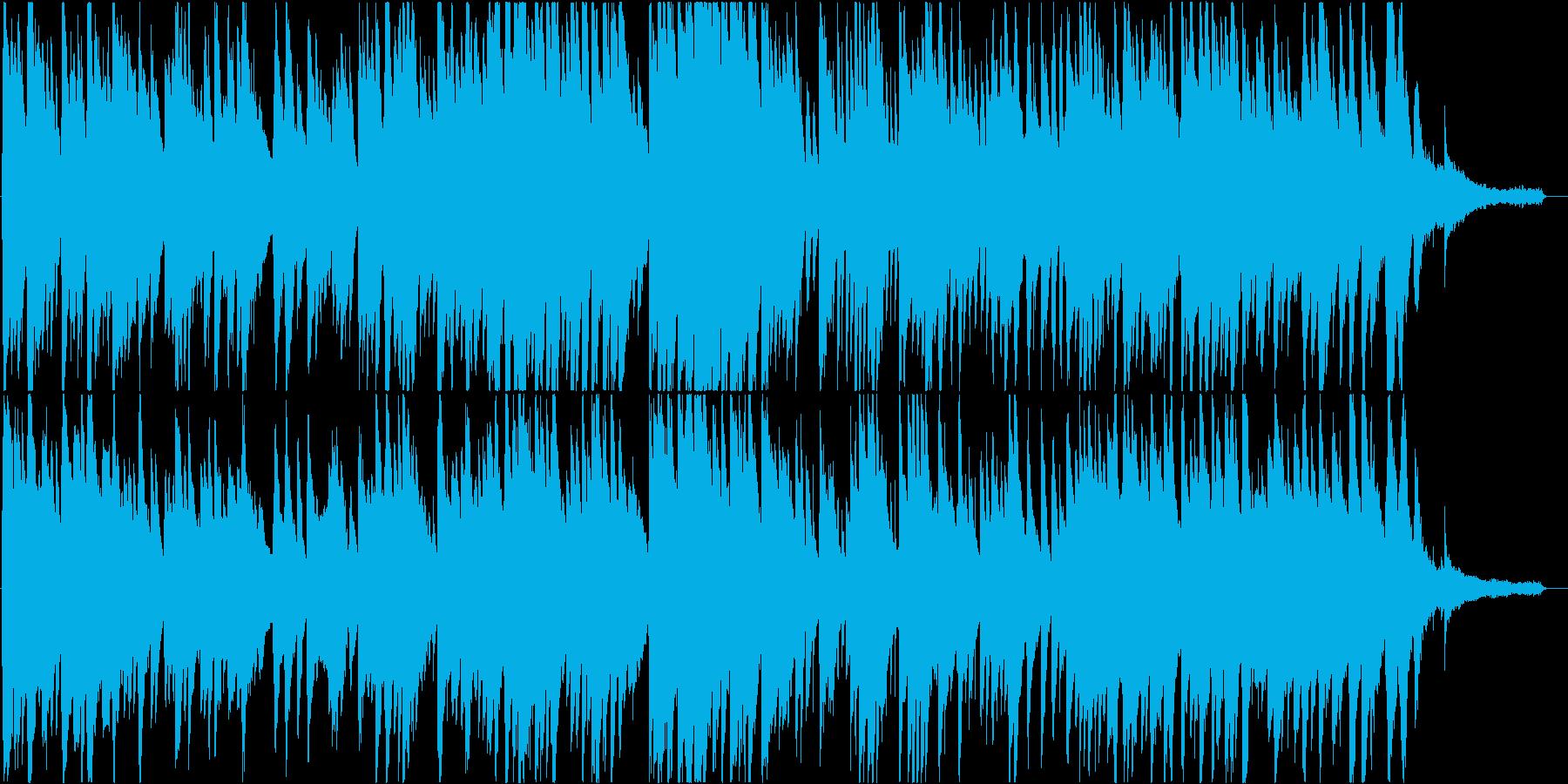 不思議で優しい雰囲気の現代音楽ピアノ楽曲の再生済みの波形