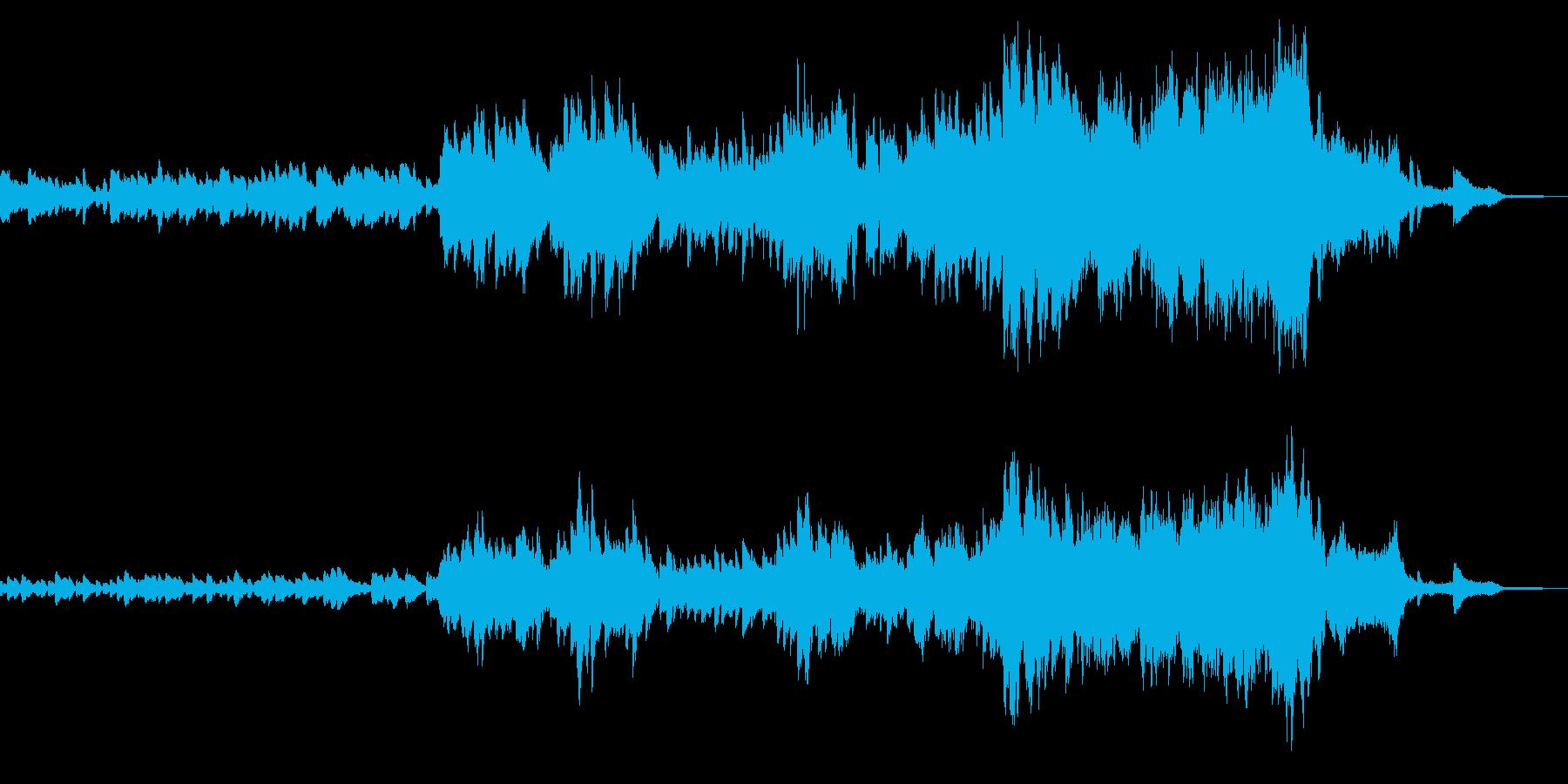 ハッピーエンドな楽曲の再生済みの波形