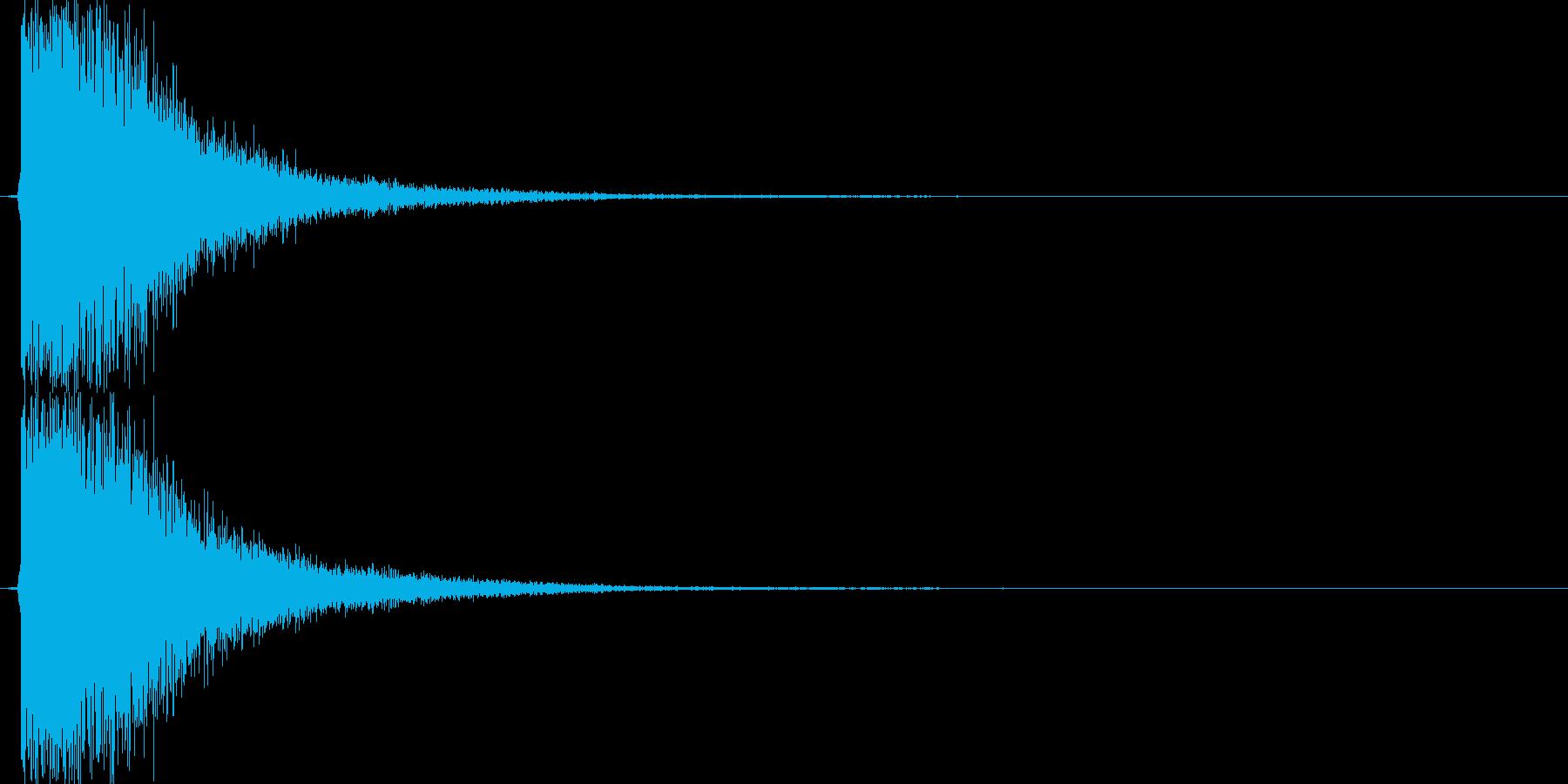 カキーン(剣VS剣、金属、大剣)の再生済みの波形
