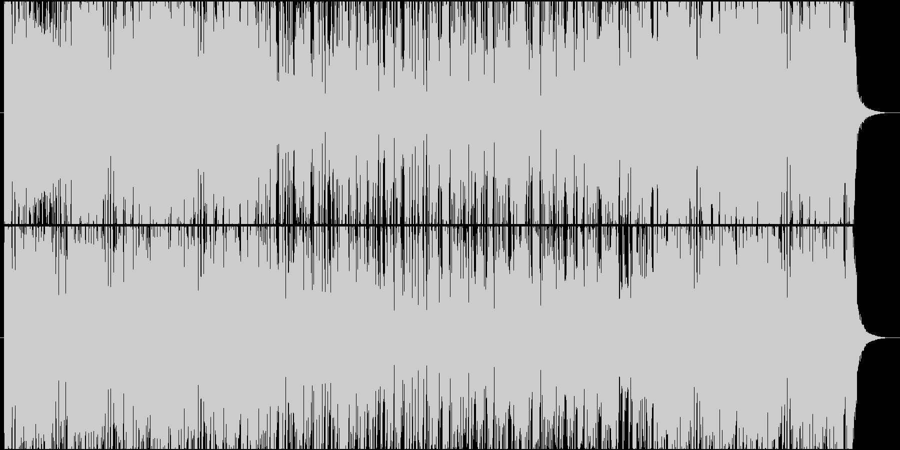 少しコミカルな明るいロックの未再生の波形