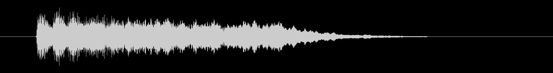 勢いあるクラシカルなジングルの未再生の波形