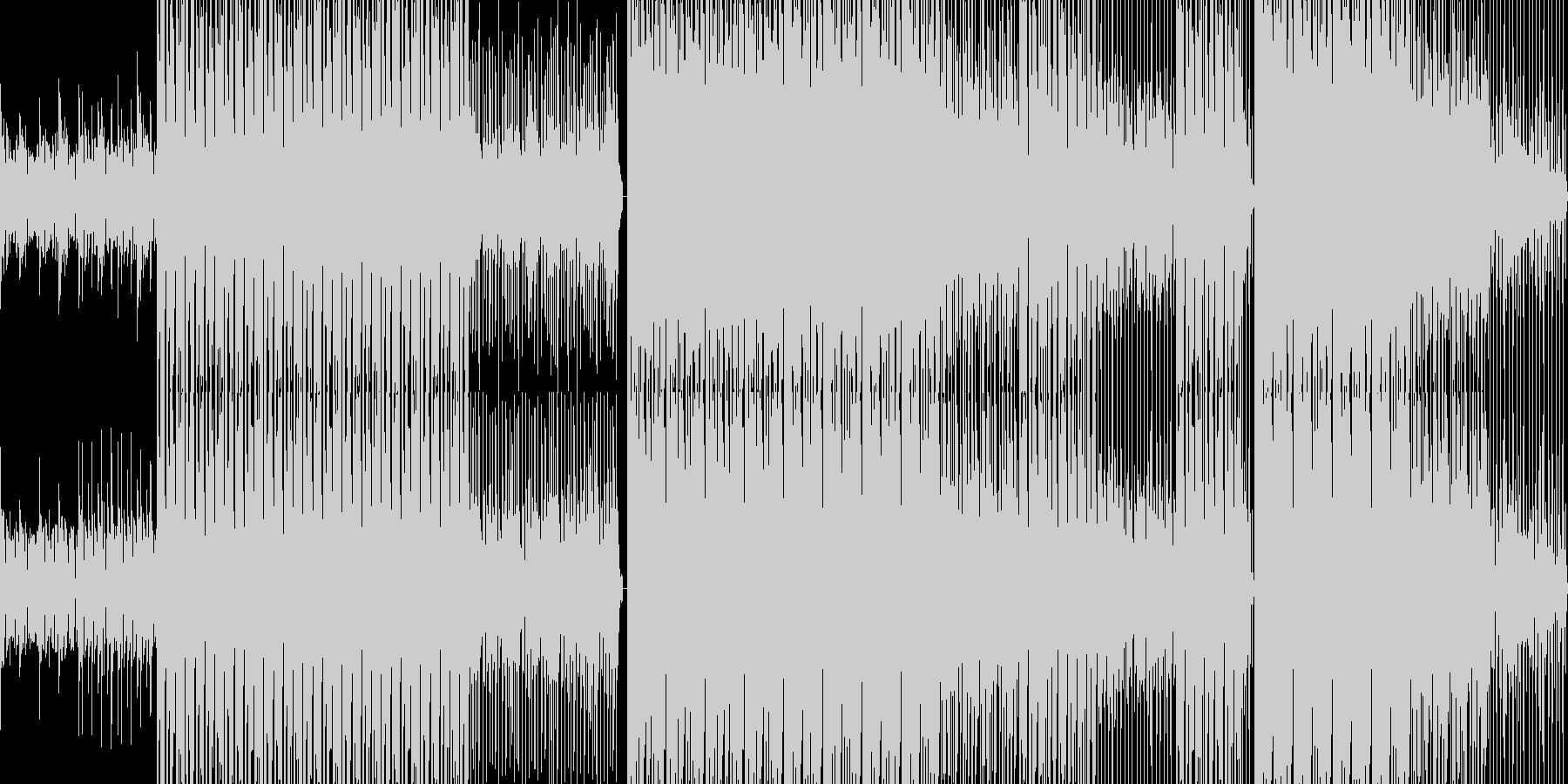 ポップなハウスBGMの未再生の波形
