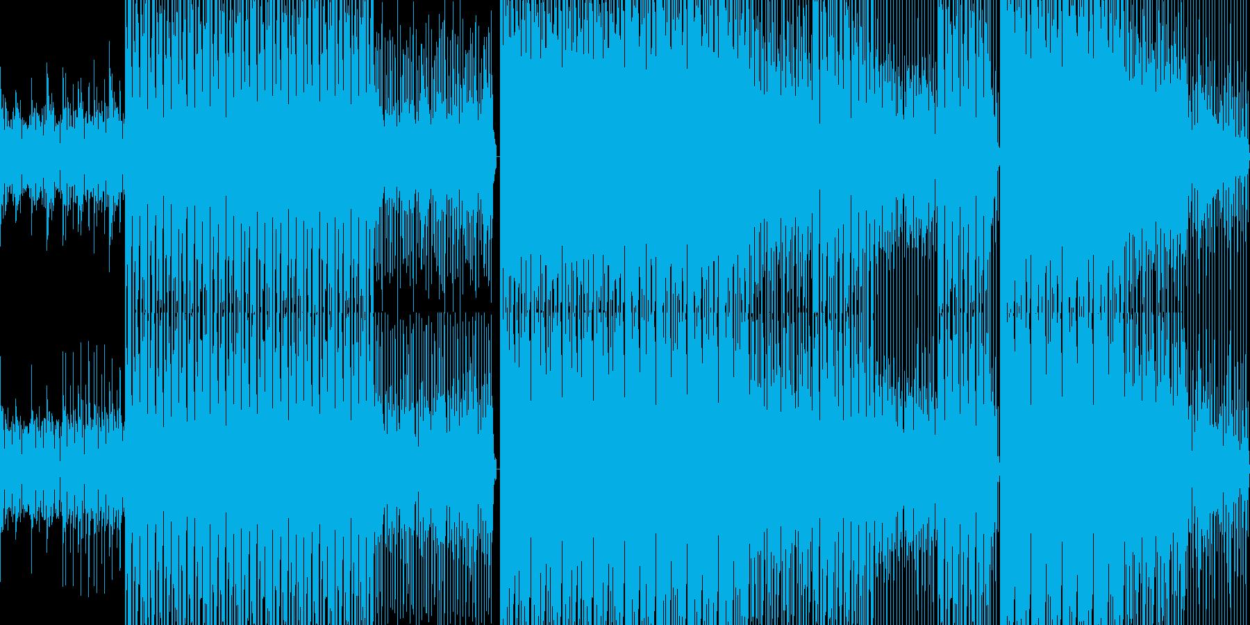 ポップなハウスBGMの再生済みの波形
