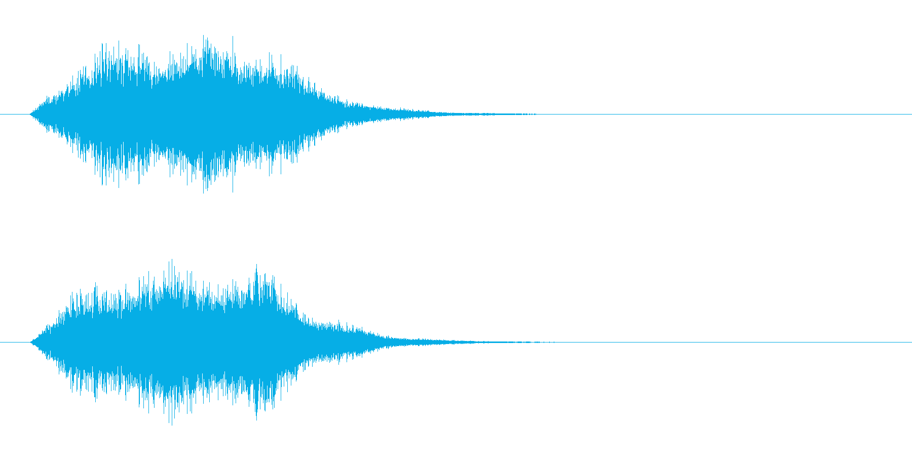 消失音の再生済みの波形