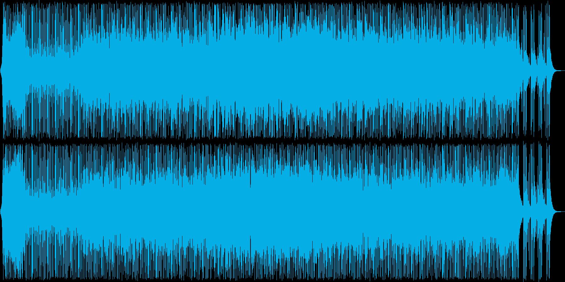 楽しく愉快なポップ曲の再生済みの波形