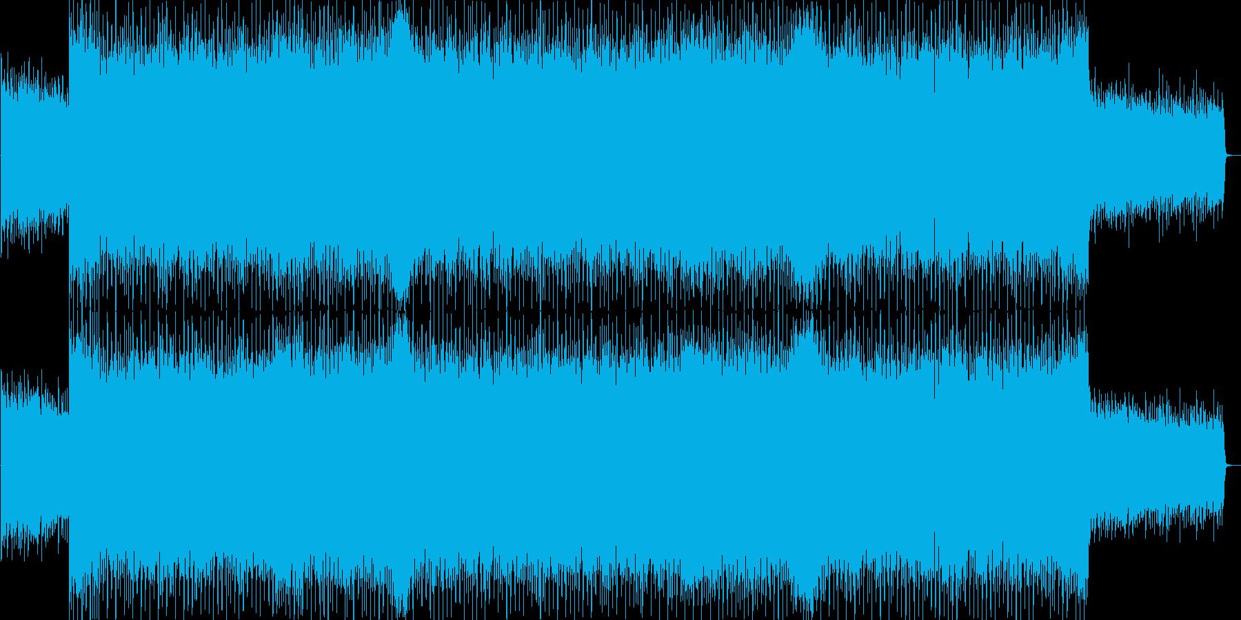 爽やか、ピアノ、ストリングス、ハウスの再生済みの波形