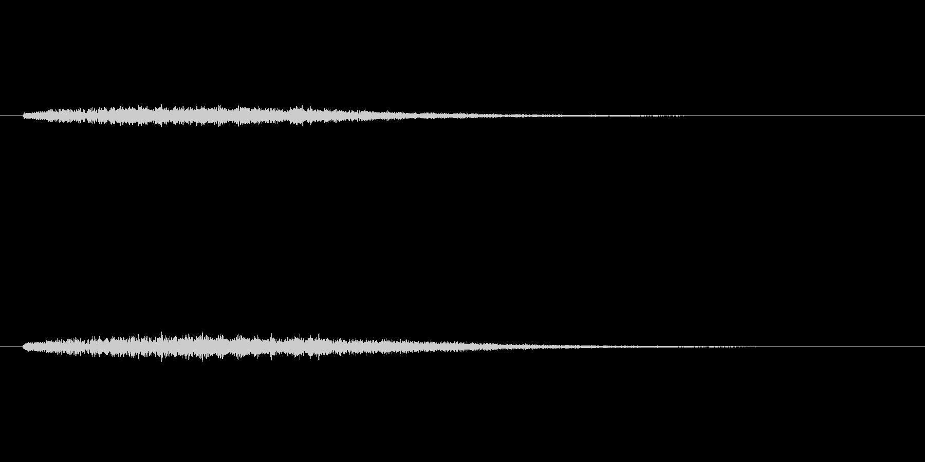 上昇するシンセベルによるサウンドロゴの未再生の波形
