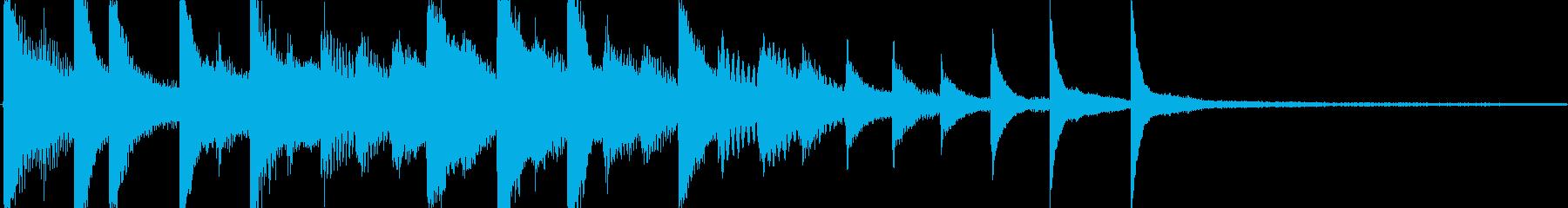 落ち着いたピアノソロでのゲームオーバー…の再生済みの波形