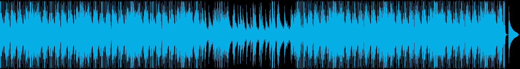 ピアノ旋律、ジャズ風、サンバ風の再生済みの波形
