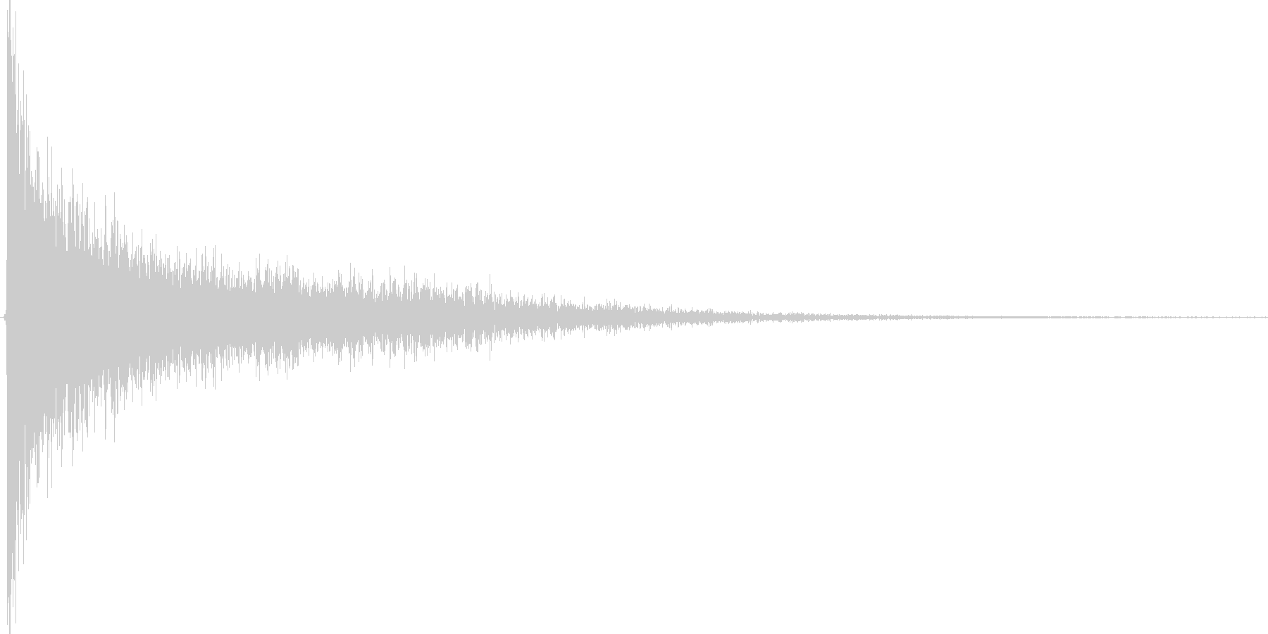 ガーン。驚愕・ショック音(高)の未再生の波形