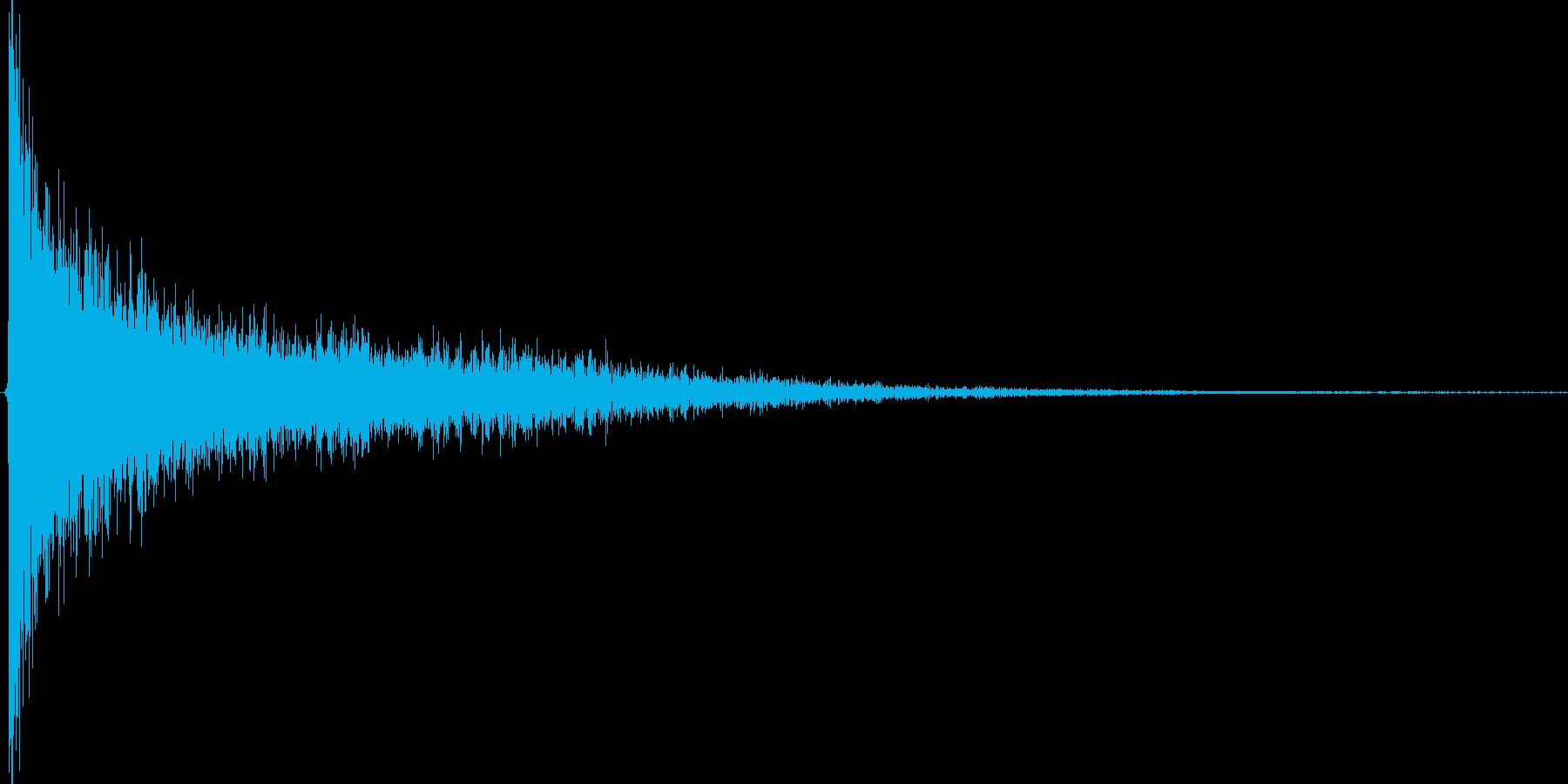 ガーン。驚愕・ショック音(高)の再生済みの波形