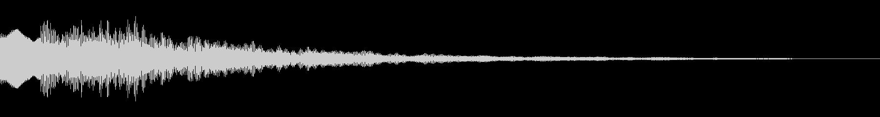 サスペンスっぽい怪しい単音のエレピ音の未再生の波形