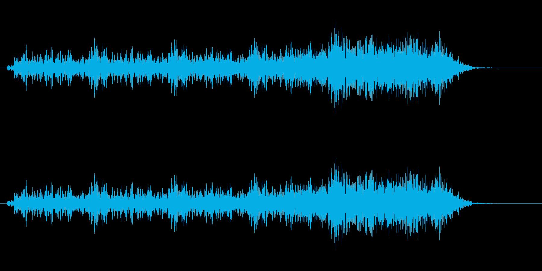 ヒュインヒュイン(風が舞い上がる音)の再生済みの波形