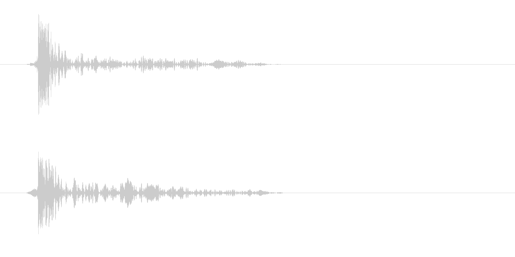 トッ(風が鼓膜に響いた)の未再生の波形