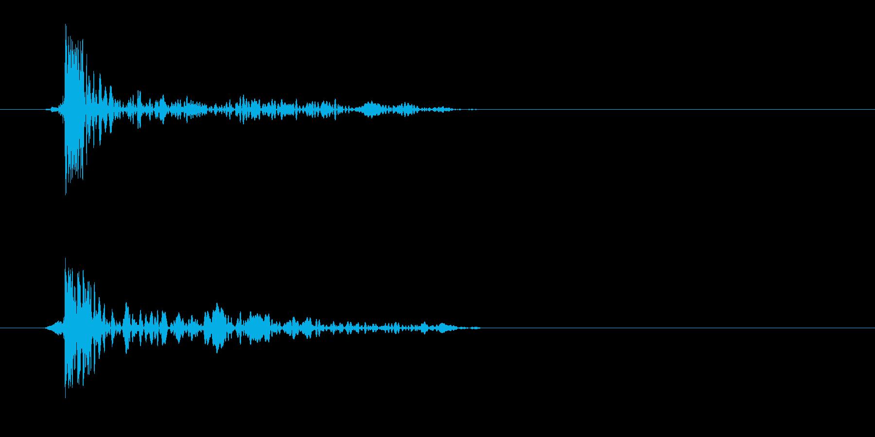トッ(風が鼓膜に響いた)の再生済みの波形