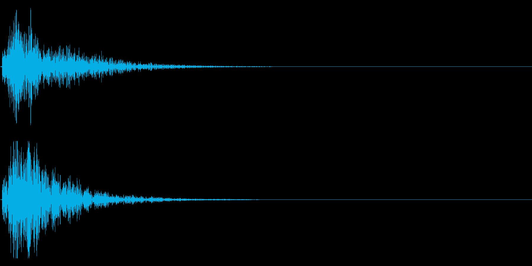 ドドン!大太鼓の迫力あるフレーズ音 13の再生済みの波形