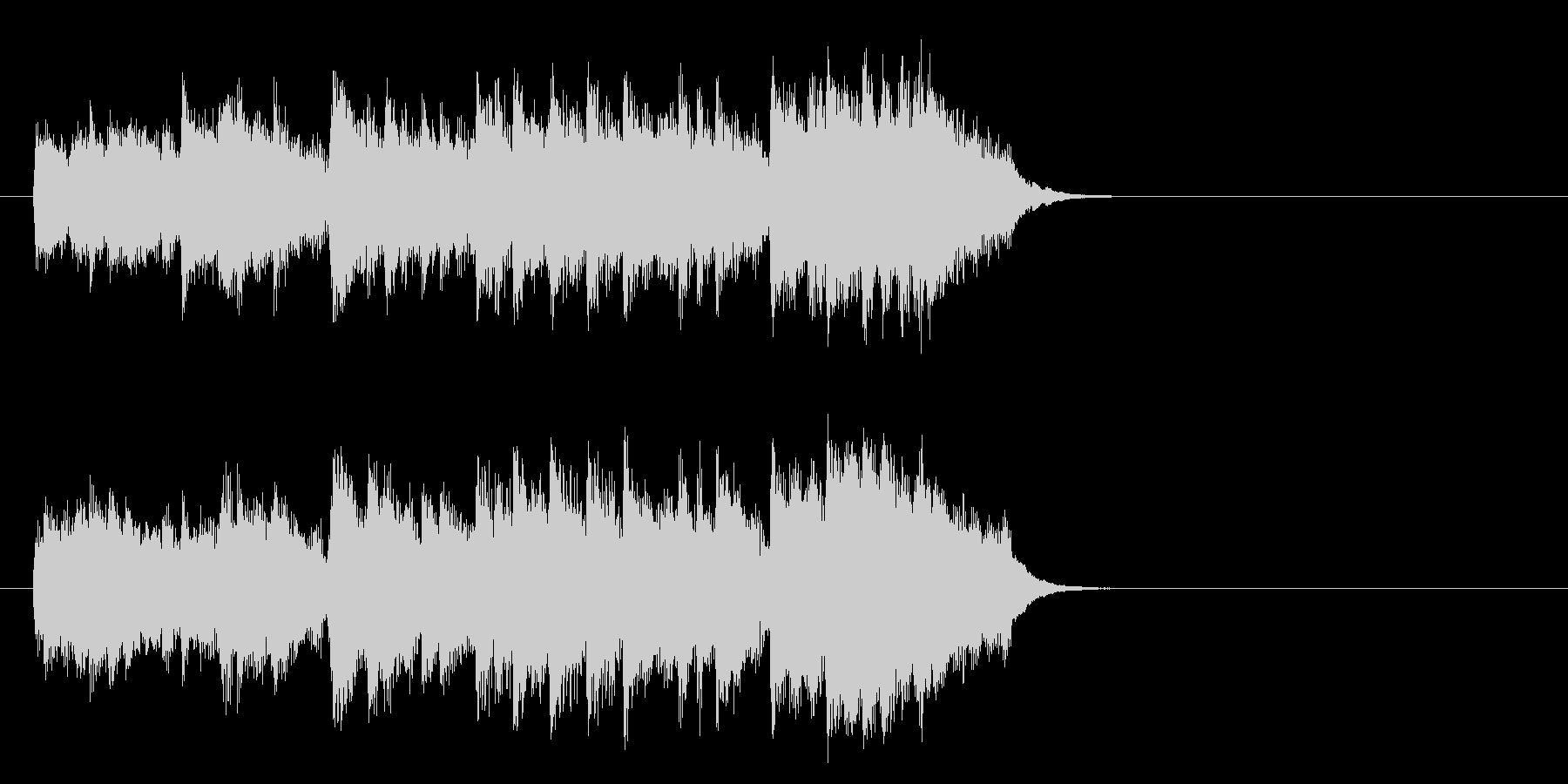滑らかなピアノのバラード(イントロ)の未再生の波形