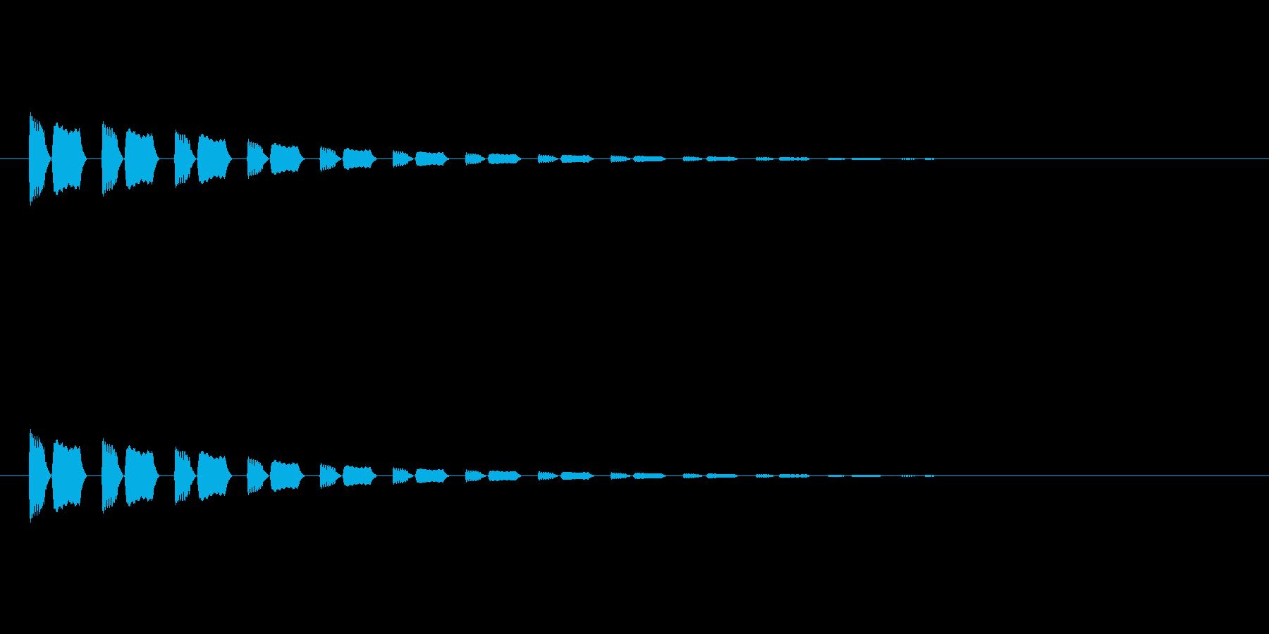【アクセント22-3】の再生済みの波形