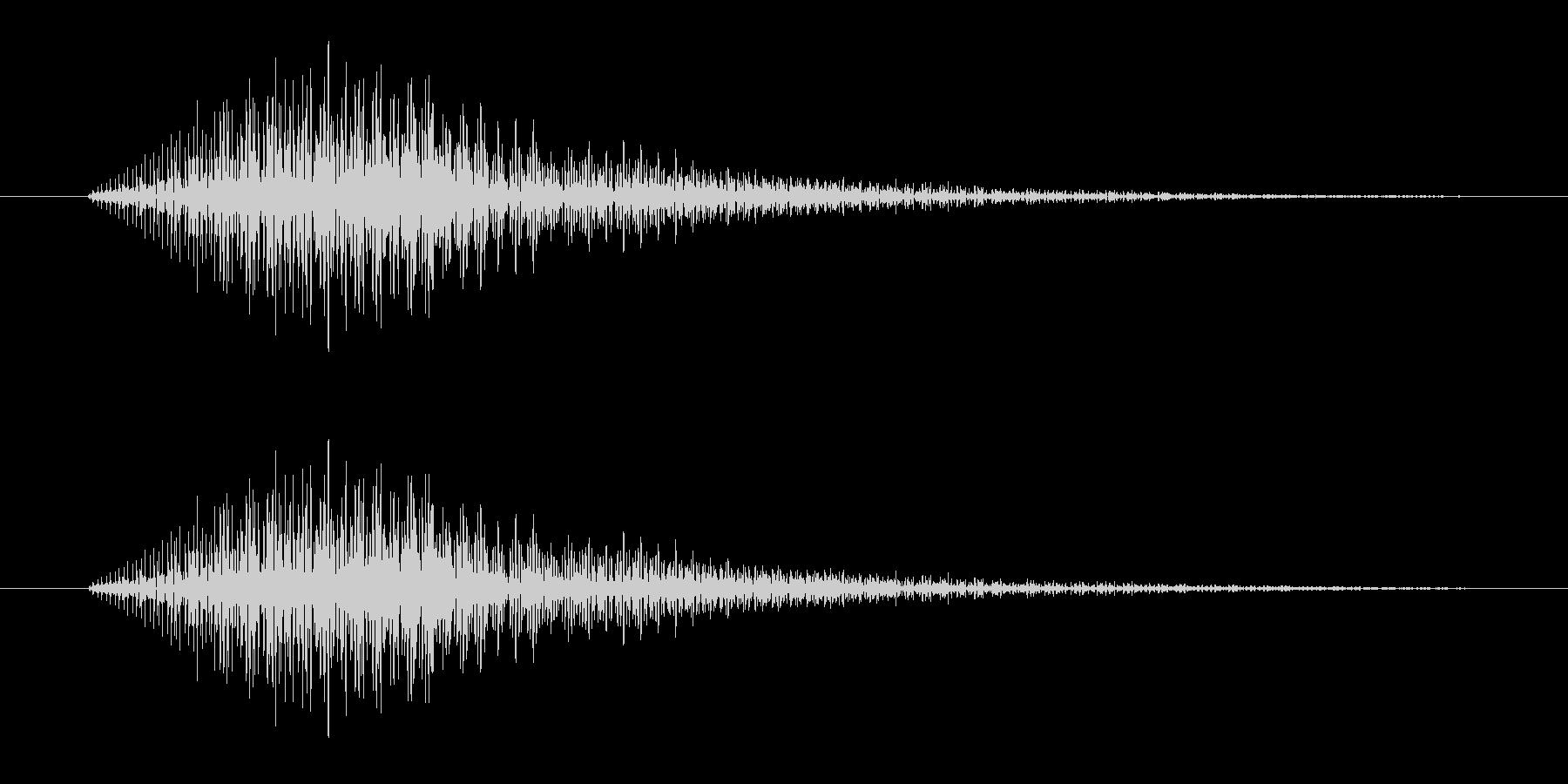 「ピッ (シンセ音)」の未再生の波形