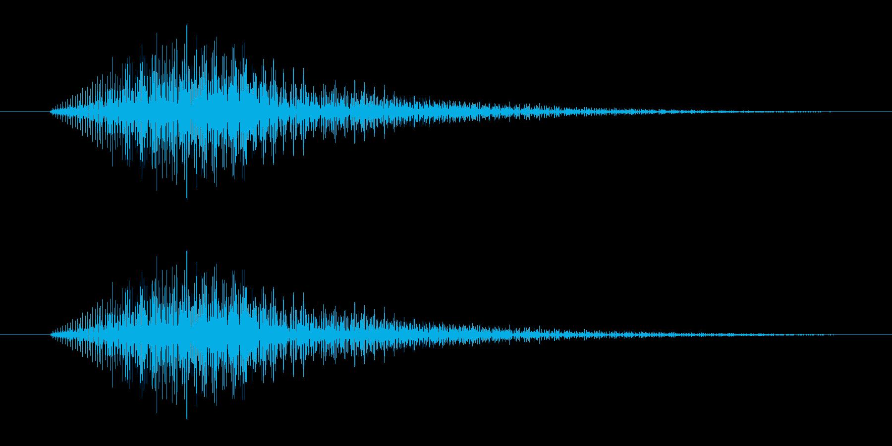 「ピッ (シンセ音)」の再生済みの波形