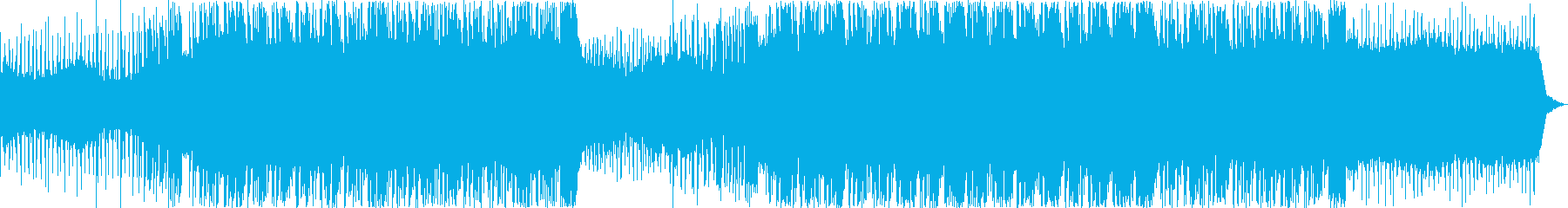 おしゃれで疾走感のあるドラムンベースの再生済みの波形