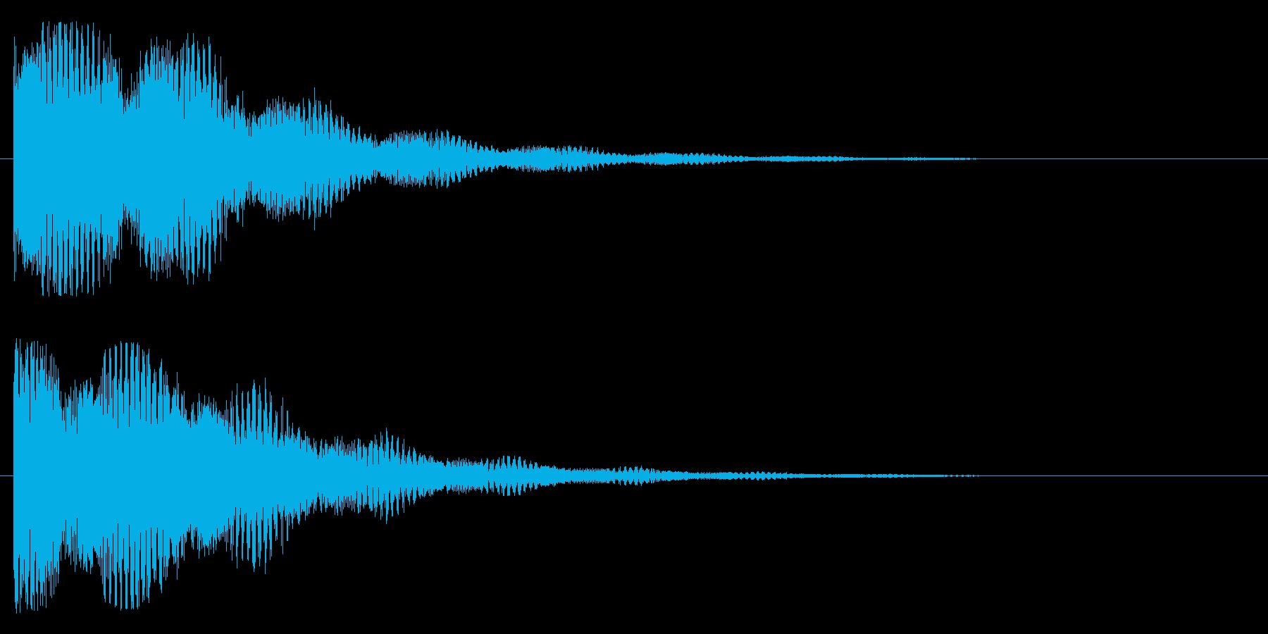 インパクト、ロゴ、起動の再生済みの波形