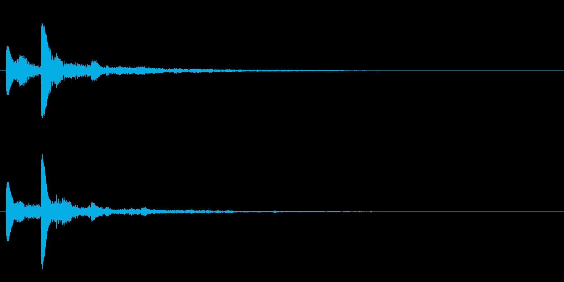 テロップ表示音~暗めな3和音の分散系~の再生済みの波形