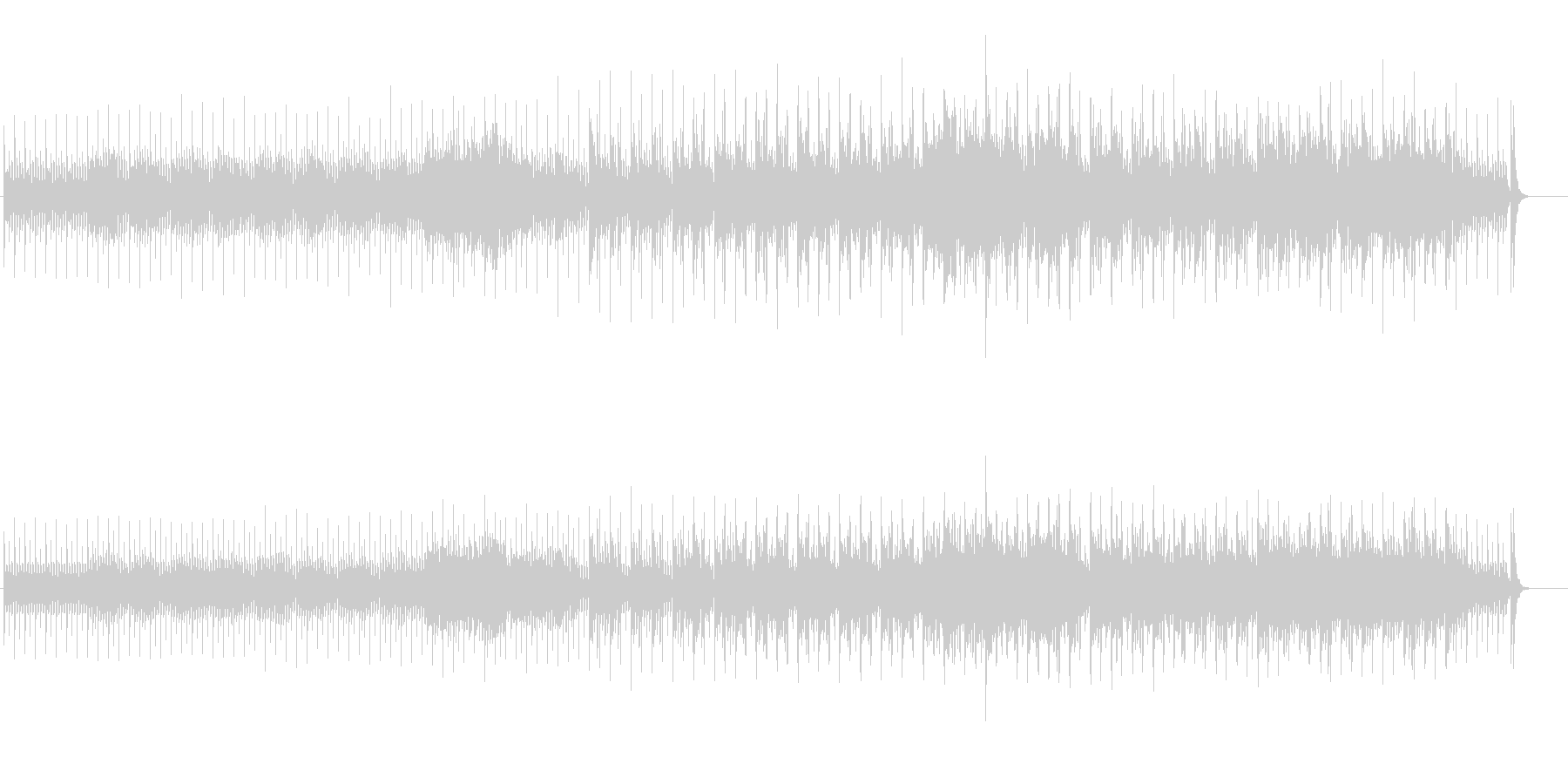 テクノ/ニューエイジ風ポップスの未再生の波形