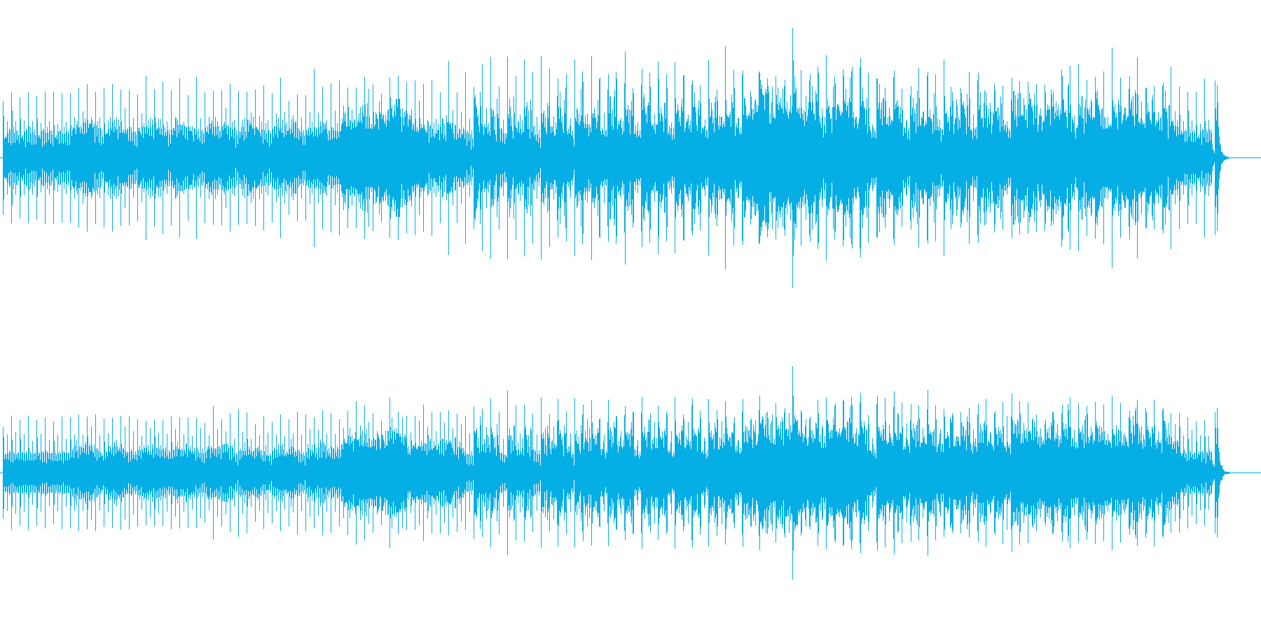 テクノ/ニューエイジ風ポップスの再生済みの波形